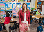 Jennifer Moore teaches her 1st grade class at Harvard Elementary School, May 1, 2013.