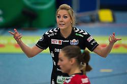 09-11-2014 GER: USC Muenster - Dresdner SC, Munster<br /> Halle Berg Fidel / Laura Dijkema (#7 Dresden) enttäuscht / enttaeuscht / traurig <br /> <br /> ***NETHERLANDS ONLY***