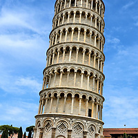 Leaning Tower of Pisa in Pisa, Italy<br />