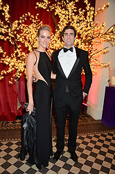 EARL COMPTON son and heir of the 7th Marquess of Northampton and his sister LADY LOUISA COMPTON at the Sugarplum Dinner - The event was for the launch of Sugarplum Children, a new website and fundraising initiative for children who live with type 1 diabetes, and to raise money for JDRF (Juvenile Diabetes Research Foundation) held at One Mayfair, 13A North Audley Street, London on 20th November 2013.