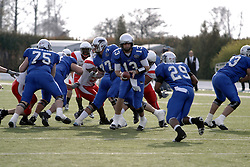 25 November 2006: Cole Stinson hands off to Vincent Webb. The Redbirds romped the Panthers by a score of 24-13.&#xD;This game was a 1st round NCAA Division 1 Playoff held at O'Brien Stadium on the campus of Eastern Illinois University in Charleston Illinois.<br />