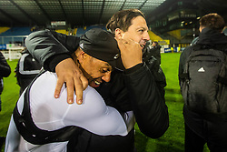Zlatko Zahovic general manager of NK Maribor with Marcos Tavares of NK Maribor after winning national championship during Football match between NK Celje and NK Maribor in 33th Round of Prva liga Telekom Slovenije 2018/19, on May 15th, 2019, in Stadium Celje, Slovenia. Photo by Grega Valancic / Sportida