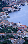 An overview of the elegant town and port of Vis, on the island of Vis.