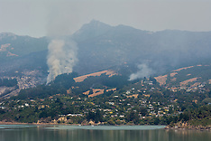 Christchurch-Port hills fire moves to Governors Bay