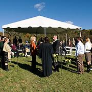 Eugenia Zukerman and Dick Novik's wedding in Ancramdale, New York on October 9, 2010. ..Photo by Angela Jimenez .www.angelajimenezphotography.com
