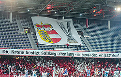 22.02.2018, Red Bull Arena, Salzburg, AUT, UEFA EL, FC Salzburg vs Real Sociedad, Sechzehntelfinale, Rueckspiel, im Bild Salzburger Fan Choreographie // during the UEFA Europa League Round of 32, 2nd Leg Match between FC Salzburg and Real Sociedad at the Red Bull Arena in Salzburg, Austria on 2018/02/22. EXPA Pictures © 2018, PhotoCredit: EXPA/ JFK