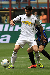 29.04.2012, Stadion Giuseppe Meazza, Mailand, ITA, Serie A, Inter Mailand vs AC Cesena, 35. Spieltag, im Bild Vincenzo Iaquinta Cesena // during the football match of Italian 'Serie A' league, 35th round, between Inter Mailand and AC Cesena at Stadium Giuseppe Meazza, Milan, Italy on 2012/04/29. EXPA Pictures © 2012, PhotoCredit: EXPA/ Insidefoto/ Paolo Nucci..***** ATTENTION - for AUT, SLO, CRO, SRB, SUI and SWE only *****