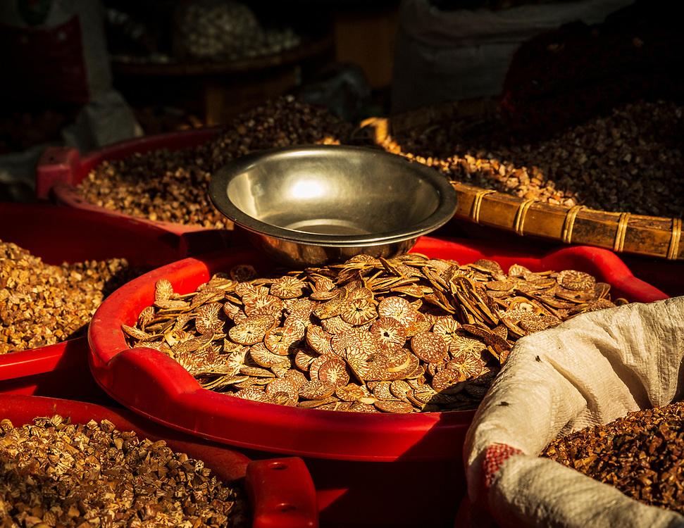 Betel nuts on a market stall, Mandalay, Myanmar