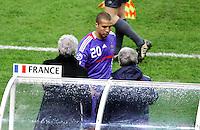 Raymond DOMENECH / David TREZEGUET - 26.03.2008 - France / Angleterre - Match amical - Stade de France<br /> Photo : Xavier laine / Icon Sport