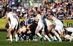 Harlequins and Bath Rugby players maul - Mandatory byline: Robbie Stephenson/JMP - 07966386802 - 31/10/2015 - RUGBY - Recreation Ground -Bath,England - Bath Rugby v Harlequins - Aviva Premiership
