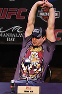 LAS VEGAS, NEVADA, JULY 9, 2009: Frank Mir is pictured during the pre-fight press conference for UFC 100 inside the House of Blues in Las Vegas, Nevada
