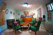 Israel, Negev desert, Kibbutz Sde Boker, Interior of Ben-Gurion Desert Home the Lounge
