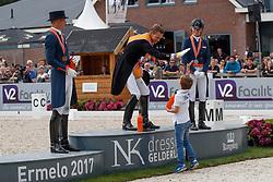 Niels Witte, Gal Adward, Witte-Vrees Madeleine, Minderhoud Hans Peter, NED<br /> Nederlands Kampioenschap Dressuur <br /> Ermelo 2017<br /> © Hippo Foto - Dirk Caremans<br /> 16/07/2017