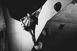 Tjasa Kalan during National championship in boulder climbing on November 29, 2015 in Kranj, Slovenia. (Photo By Grega Valancic / Sportida)