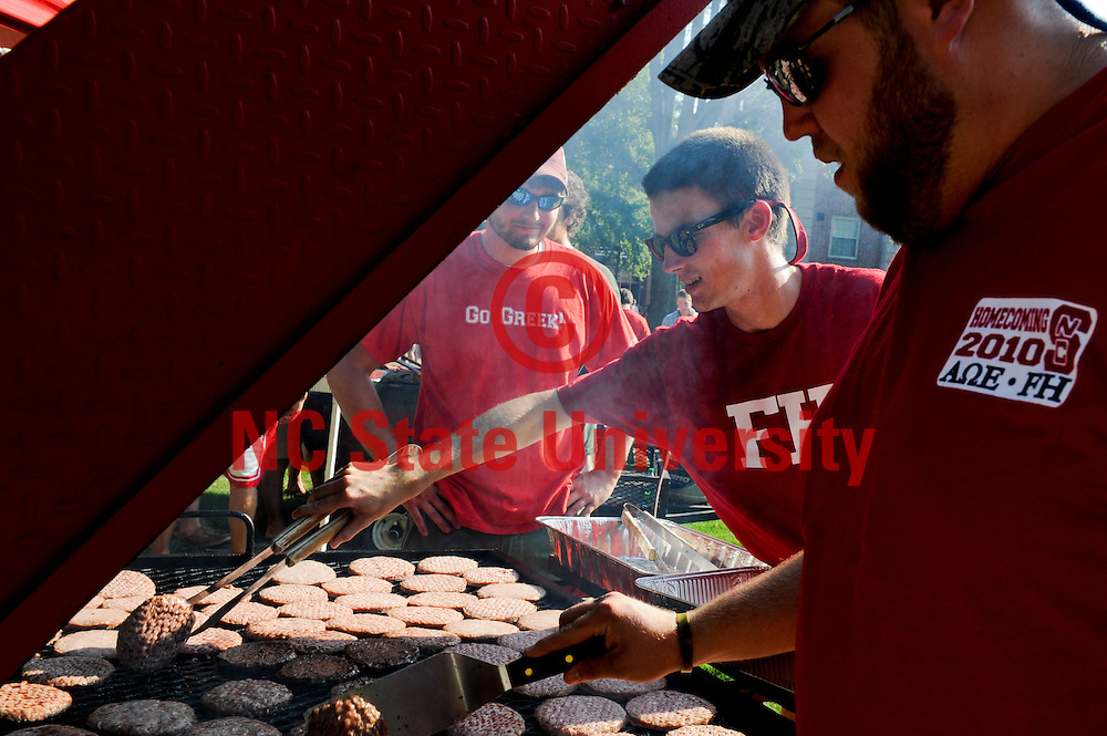 NCSU students enjoy the back-to-school festivities during Grillin' and Chillin' on Tucker Beach.