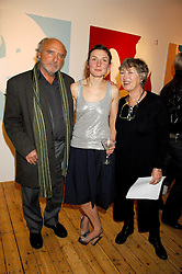 Left to right, PETER LAW, his daughter artist NATASHA LAW  and her mother MAGGIE LAW at an exhibition of artist Natasha Law's work entitled 'Room' hosted by the Eleven gallery in association with Ruinart champagne at 121 Charing Cross Road, London WC2 on 16th January 2008.  Following the private view a dinner was held at Soho House hosted by Ruinart.<br /> <br />  (EMBARGOED FOR PUBLICATION IN UK MAGAZINES UNTIL 1 MONTH AFTER CREATE DATE AND TIME) www.donfeatures.com  +44 (0) 7092 235465