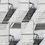 Beach chairs, Wildwood Crest, New jersey, USA
