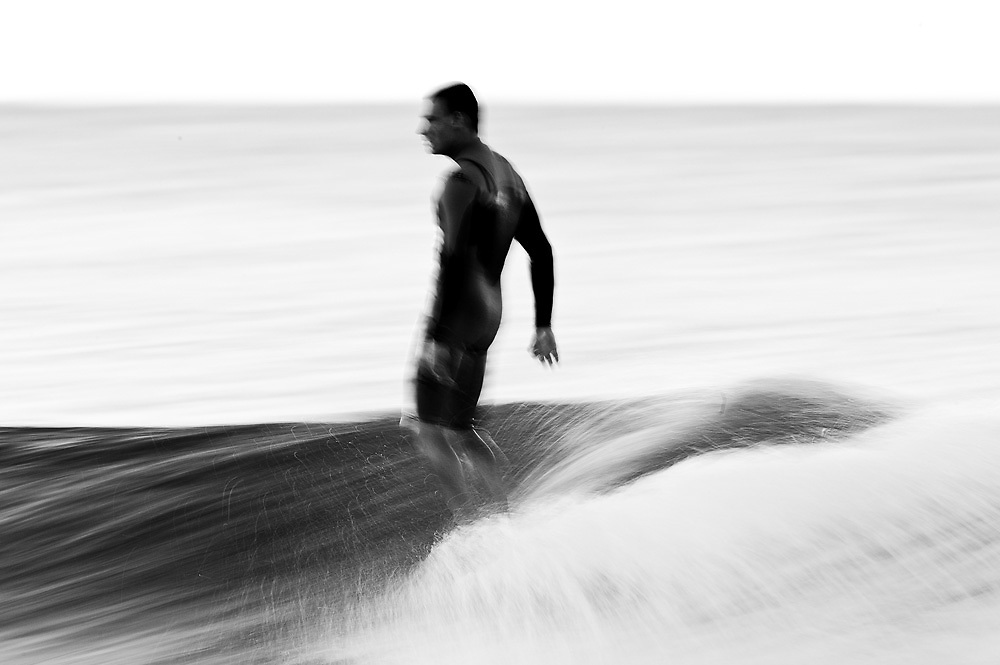 30th May 2011: note* image has been converted to black and white* Dane Pioli hangs ten surfing at Snapper Rocks on the Gold Coast, Queensland, Australia. Photo by Matt Roberts / Nikon
