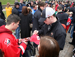 Presentation of Canadian Ice hockey Team in front of Metro Centre  in Halifax at IIHF World Championship 2008,  on May 01, 2008, Halifax, Canada.  (Photo by Vid Ponikvar / Sportal Images)