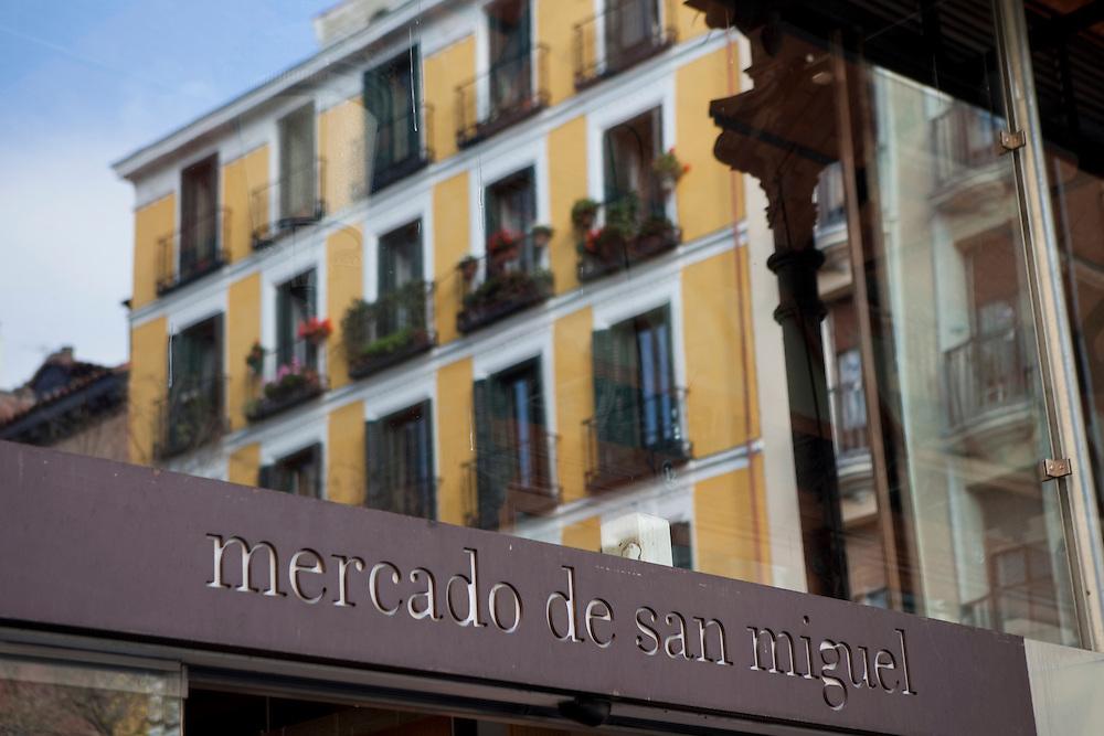 Mercado de San Miguel, in Madrid, Spain.
