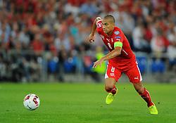 Switzerland's Gokhan Inler  - Photo mandatory by-line: Joe Meredith/JMP - Mobile: 07966 386802 - 08/09/14 - SPORT - FOOTBALL - Switzerland - Basel - St Jacob Park - Switzerland v England - Uefa Euro 2016 Group E Qualifier
