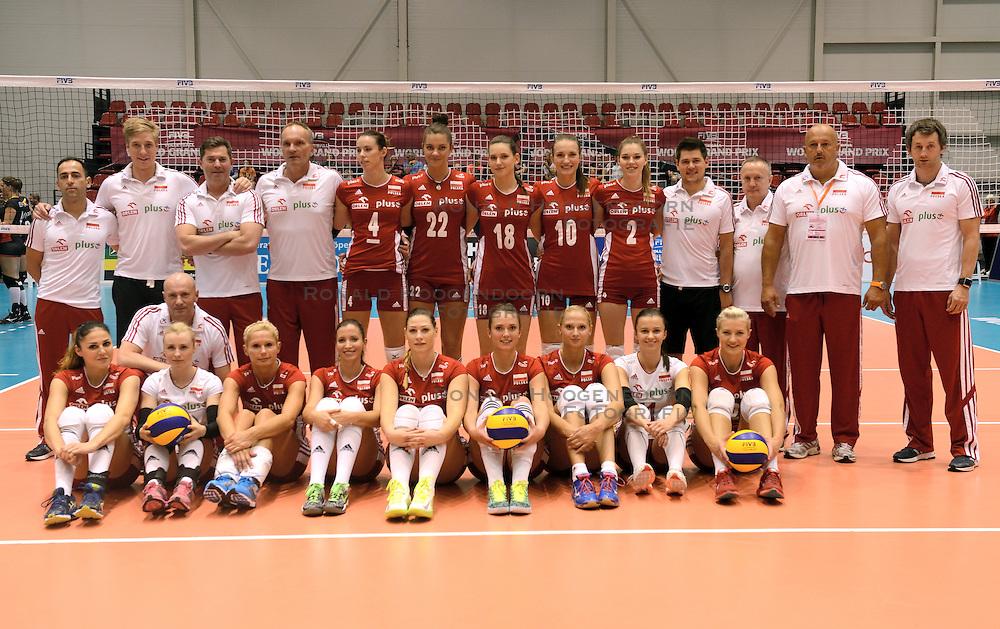 08-08-2014 NED: FIVB Grand Prix Belgie - Polen, Doetinchem<br /> Teamfoto Polen
