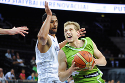 Jaka Blazic of Slovenia during friendly match between National Teams of Slovenia and New Zealand before World Championship Spain 2014 on August 16, 2014 in Kaunas, Lithuania. Photo by Vid Ponikvar / Sportida.com