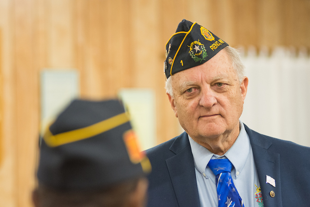 American Legion Post 1 Commander Jack Edstrom during a System Worth Saving town hall on Tuesday, March 8, 2016 in Reno, Nev.. Photo by David Calvert /The American Legion.