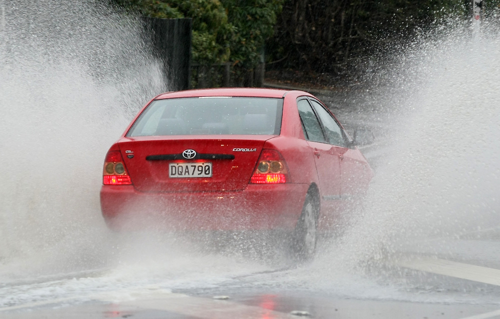 Heavy rain causes flooding in and around the city of Dunedin, New Zealand, Wednesday, June 03, 2015. Credit: SNPA/Dianne Manson