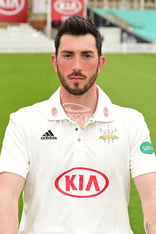 Mark Footitt portrait during the Surrey CCC Photocall 2017 at the Oval, London, United Kingdom on 4 April 2017. Photo by Jon Bromley.