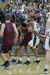 16 February 2018: Boys Basketball game between the Danville Vikings and the Normal West Wildcats at West in Normal
