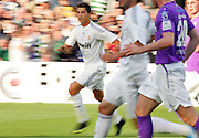 Cristiano Ronaldo of Real Madrid in action during the Pre Season Friendly between Shamrock Rovers and Real Madrid at Tallaght Stadium on July 20, 2009 in Dublin, Ireland