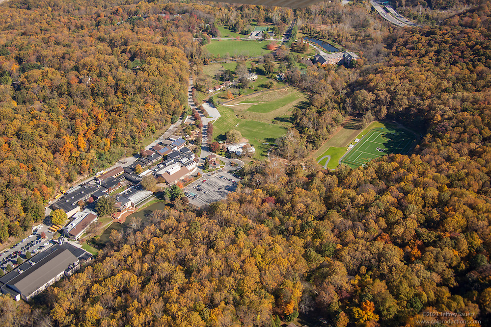 Baltimore aerial Image of The Park School School athletic field by Jeffrey Sauers of Commercial Photographics, Architectural Photo Artistry in Washington DC, Virginia to Florida and PA to New England