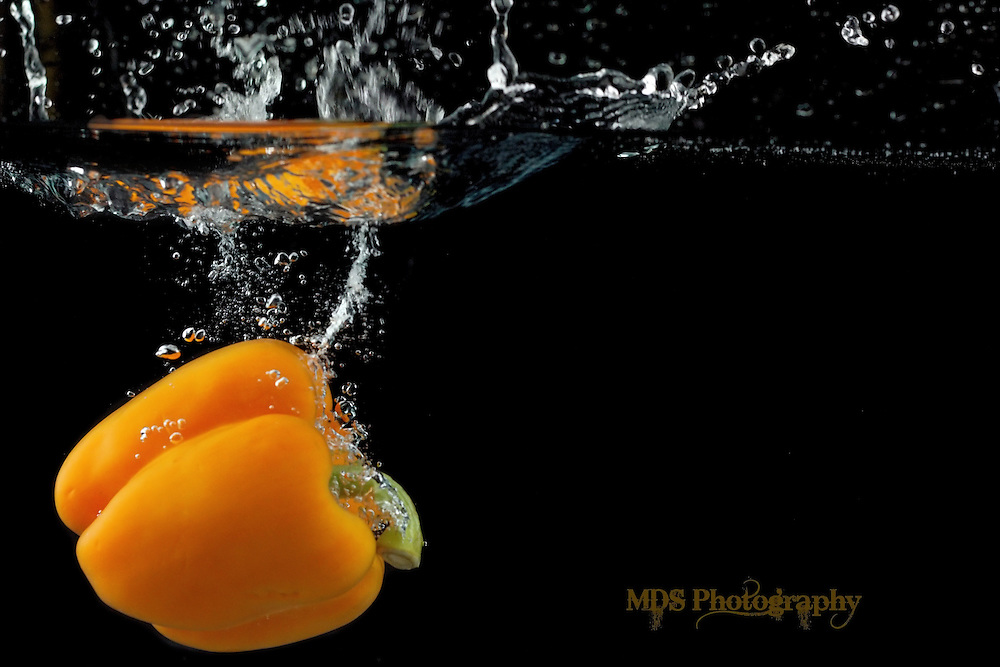 Orange Bell pepper splash