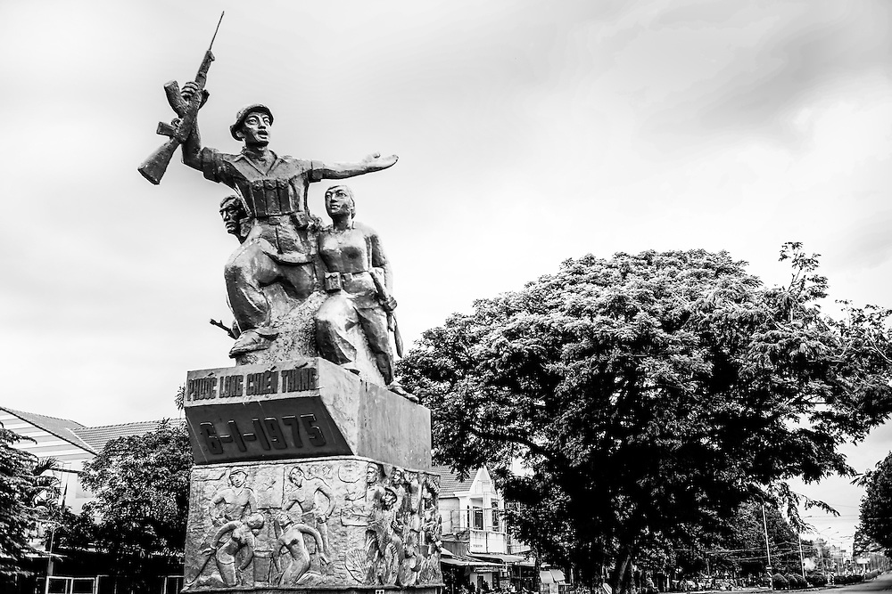 Remnants of the Vietnam war, known as the American War here, are on display and mix with youth from generations separated from warfare, yet still here to keep in their memories, in Phuoc Long, Binh Phuoc Province, southern Vietnam.