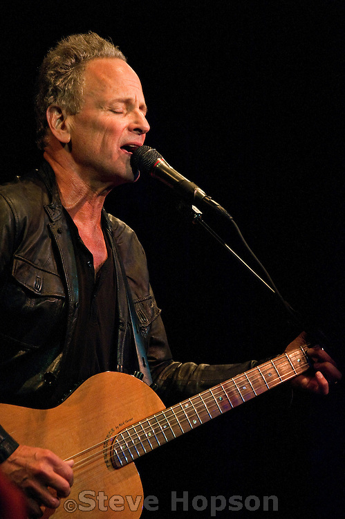Lindsey Buckingham performing at Antone's, Austin, Texas, August 22, 2012.   Lindsey Adams Buckingham (born October 3, 1949) is an American guitarist, singer, composer and producer, most notable for being the guitarist and male lead singer of the musical group Fleetwood Mac