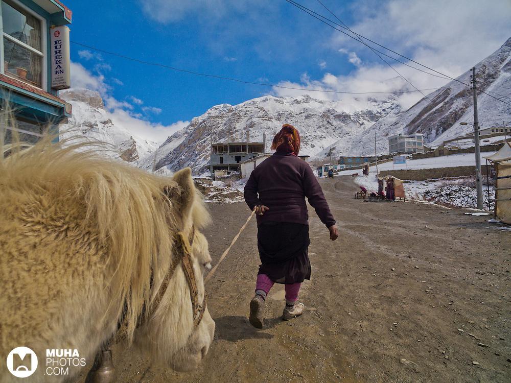 Daily Life of Kagbeni, Mustang, Nepal.