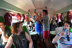 Atmosphere of fans of the Moscow train to Kazan - 15 June 2018