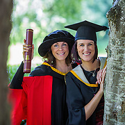 "25.08.2016          <br />  Faculty of Business, Kemmy Business School graduations at the University of Limerick today. <br /> <br /> Attending the conferring were sisters, Phd graduate, Dr. Leonie McMeel Lynch and her sister, Sharon McMeel, BA in Management Practice, Ballysheedy, Limerick. Picture: Alan Place.<br /> <br /> <br /> As the University of Limerick commences four days of conferring ceremonies which will see 2568 students graduate, including 50 PhD graduates, UL President, Professor Don Barry highlighted the continued demand for UL graduates by employers; ""Traditionally UL's Graduate Employment figures trend well above the national average. Despite the challenging environment, UL's graduate employment rate for 2015 primary degree-holders is now 14% higher than the HEA's most recently-available national average figure which is 58% for 2014"". The survey of UL's 2015 graduates showed that 92% are either employed or pursuing further study."" Picture: Alan Place"