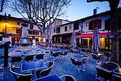 Early morning before dawn in the medieval  Cit&eacute; de Carcassonne in France<br /> <br /> (c) Andrew Wilson   Edinburgh Elite media