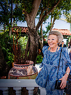 ORANJESTAD - Princess Beatrix visits at Papiamento Restaurant for lunch with Governor Boekhoudt during a visit to Aruba. ROBIN UTRECHT NETHERLANDS ONLY<br /> <br /> ORANJESTAD - Prinses Beatrix bezoekt bij restaurant Papiamento voor lunch met Gouverneur Boekhoudt tijdens een werkbezoek aan Aruba. ANP ROYAL IMAGES ROBIN UTRECHT  NETHERLANDS ONLY