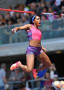 Yarisley Silva (CUB) wins the women's pole vault at 15-10½ (4.84m) during IAAF Birmingham Diamond League meeting at Alexander Stadium on Sunday, June 5, 2016, in Birmingham, United Kingdom. Photo by Jiro Mochizuki