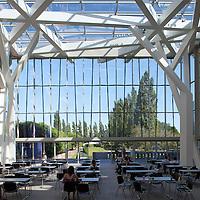 Glass courtyard, Jewish Museum, Berlin, Germany