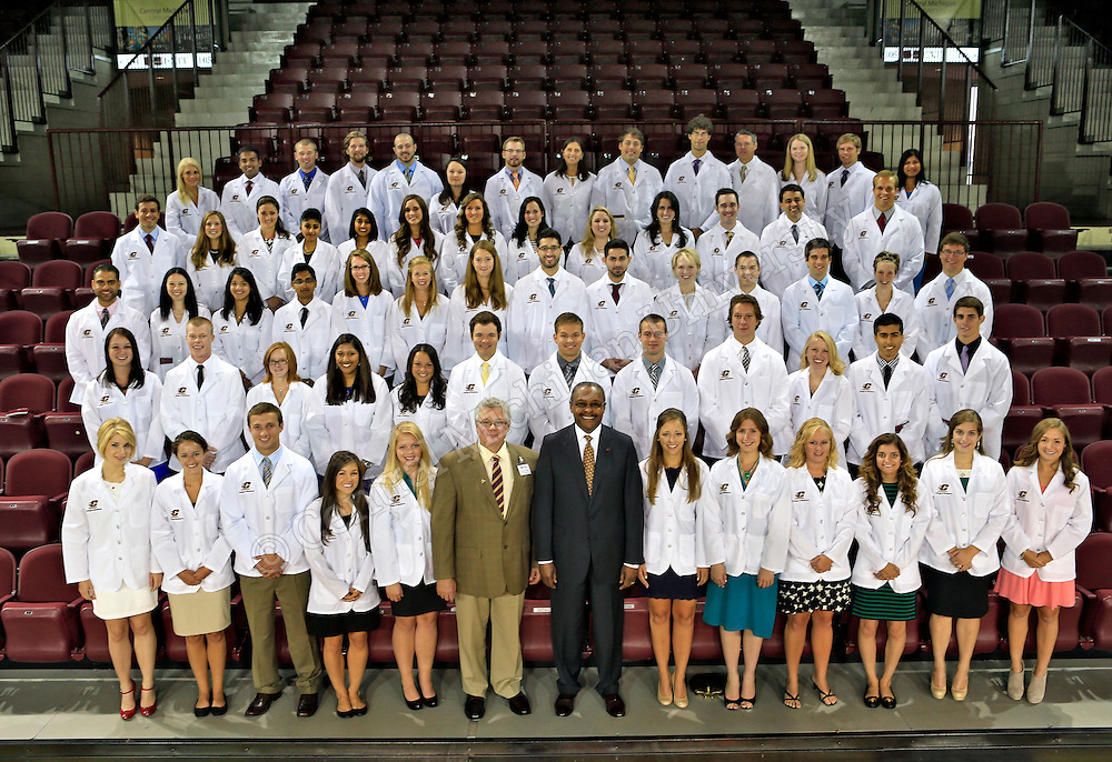 The CMU College of Medicine welcomes its inaugural class of 64 students in an invitation-only convocation and white-coat ceremony.  Photos by Steve Jessmore/Central Michigan University