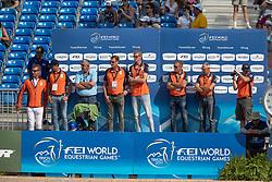 Smolders Harrie, NED, Don VHP Z, Vrieling Jur, Houtzager Mark, Schuttert Frank, Ehrens Rob<br /> World Equestrian Games - Tryon 2018<br /> © Hippo Foto - Dirk Caremans<br /> 19/09/2018