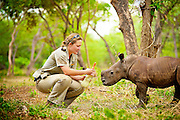 Matimba is a month old orphaned rhino who was found beside her poached mother's lifeless body.  He is now in the care of the Hoedspruit Endangered Species Centre, South Africa.