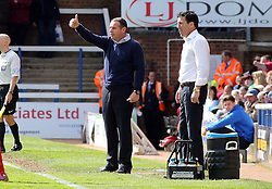 Peterborough United Manager, Dave Robertson gives the thumbs up from the touchline - Photo mandatory by-line: Joe Dent/JMP - Mobile: 07966 386802 - 25/04/2015 - SPORT - Football - Peterborough - ABAX Stadium - Peterborough United v Crawley Town - Sky Bet League One