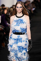 Ros Georgiou walks down runway for F2012 Prabal Gurung's collection in Mercedes Benz fashion week in New York on Feb 10, 2012 NYC
