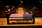 The Marine Honor Guard salutes the casket of Lt. Madrazo...Service (Funeral) for Lt. Nicolas Madrazo of Bothell, Washington. Killed in Action September 9, 2008 in Afghanistan...Westminster Chapel, Bellevue, Washington.