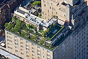 995 5th Ave, Upper East Side, Manhattan, NY, 10028, 40.778016,-73.962693, (same building as photo 110618-0307) Upper East Side, Manhattan: Elaborately manicured multi-level rooftop terrace garden near Central Park.